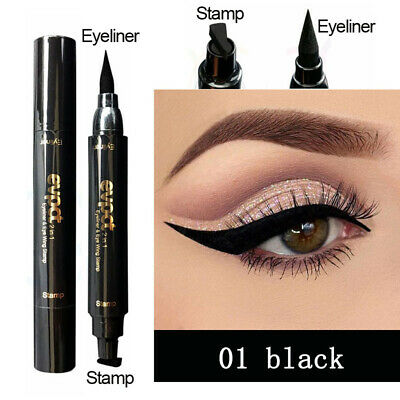 Eyeliner With Eye Wing Stamp 15.5g For Beginners Waterproof  Dual Ended Awesome