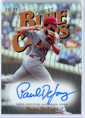PAUL DEjONG 2019 TOPPS FINEST BLUE CHIPS AUTOREFRACTOR CARDINALS