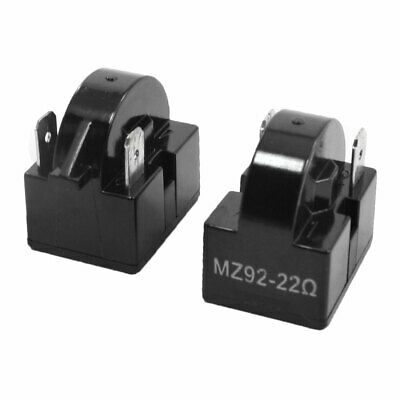 2PCS 22 Ohm Resistance 2 Terminals Refrigerator Spare Parts PTC Starter Relay