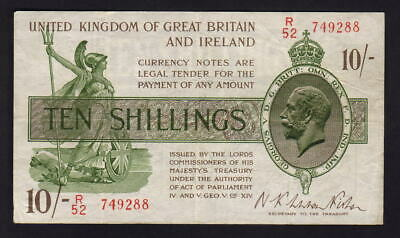 GREAT BRITAIN P-358. (1922-23) 10 Shillings. Fisher.. VF