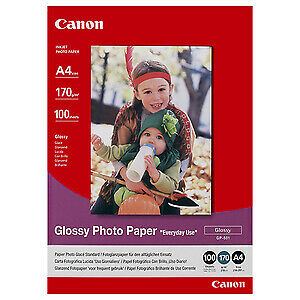 NEW! Canon Gp-501 Photo Paper A4 210 Mm X 297 Mm Glossy 100 Sheet