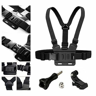 Chest Strap Mount Elastic Action Body Belt Harness Hook For  HD Hero 5 4 3+3 BM