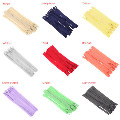 10PCS 20cm Tailor Nylon Coil Zippers Handcraft  Apparel Sewing Invisible Zippers