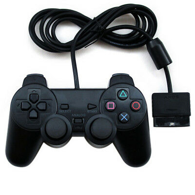1 Pack PS2 Wired Controller Compatible for Sony PS2 Playstation 2 - Black
