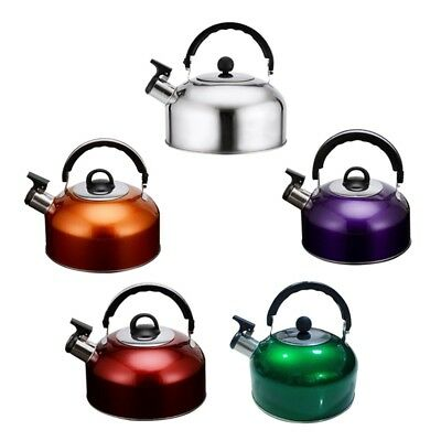 3L Stainless Steel Whistling Kettle - Home Camping Caravan Lightweight Good