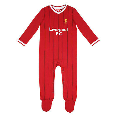 Liverpool FC Official Football Gift Home Kit Baby Striped Sleepsuit 3-6 Months
