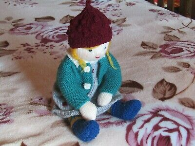 Penny - Hand Knitted Artisan Doll By Ophelia's Dolls  & Bears.