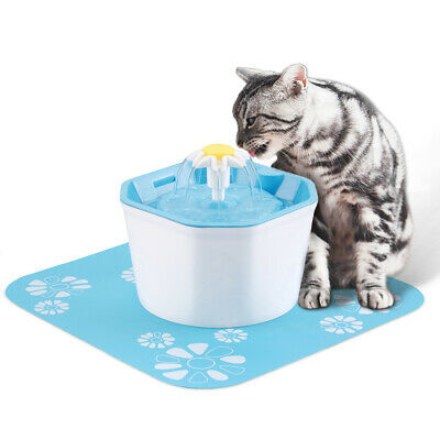 Automatic Electric Pet Water Fountain Cat/Dog Drinking Dispenser Filter Tool AU