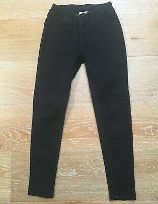 SEED TEEN Washed Black Pull On Stretch Jeans sz 8 girl [mg