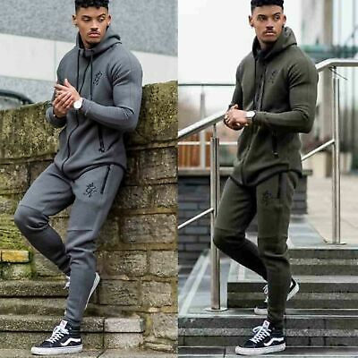 Gym King Mens Performance Full Tracksuit Designer Hoodie Slim Tapered Joggers