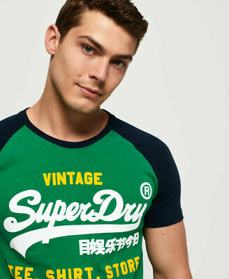 New Mens Superdry Shirt Shop Duo Raglan T-Shirt Parsons Green