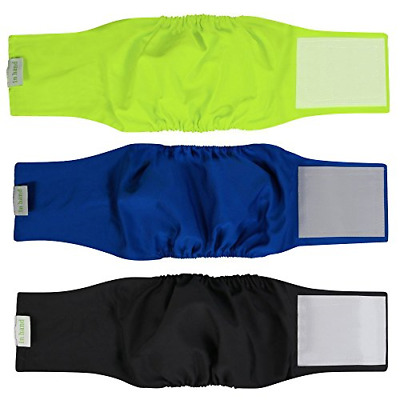 Pack of 3 HAND Washable Male Dog Diapers Reusable Belly Bands for Male Dogs NEW