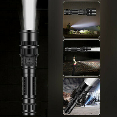 Tactical Flashlight LED Camping Torch Zoomable T6 18650 Rechargeable Lamp Light