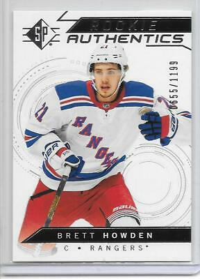 Brett Howden 2018-19 Upper Deck Sp Rookie Authentics Silver Insert Rc/Rangers