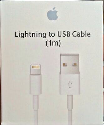 Genuine Original OEM Apple Lightning USB Charger Cable Cord iPhone 6 7 8 X Plus