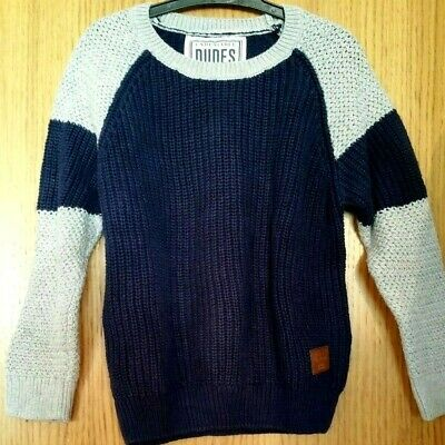 Matalan  Boys Navy Grey Up 100% Cotton Sweater Jumper Age 5 Years