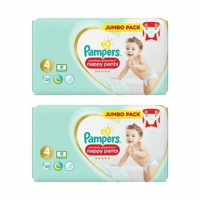 Pampers Premium Protection Baby Nappy Pants Jambo Pack 9-17kg Diaper Size 4 5 6