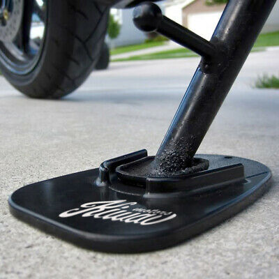motorcycle kickstand pad support black anti sinking soft ground x1 CANADA STOCK