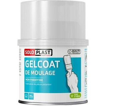 GELCOAT DE MOULAGE BLAN NON PARAFFINE SOLOPLAST fabrication pièce polyester 500G