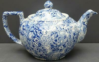 "Vintage Laura Ashley Chintzware 5.5"" Teapot - Blue White Floral Coffee Tea"
