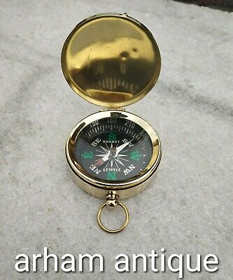 Nautical Solid Brass Working Compass Marine Astrolabe Camping Compass