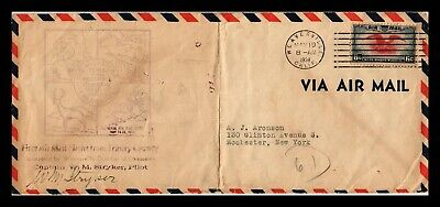 Dr Jim Stamps Us Weaverville First Flight Air Mail Legal Size Cover Sacramento