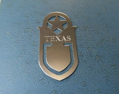 James Avery Retired Sterling Silver Texas Bookmark.