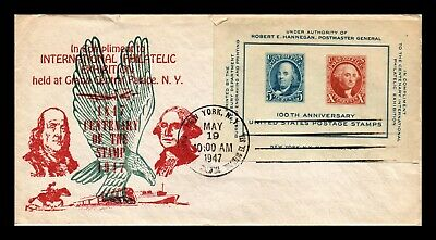 Dr Jim Stamps Us Souvenir Sheet Cipex Fdc Cover Scott 948 New York