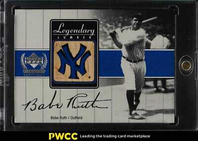 2000 Upper Deck Yankees Legends Legendary Lumber Babe Ruth PATCH #BR-LL (PWCC)