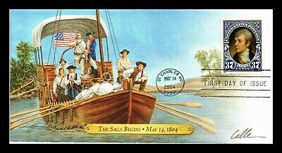 Dr Jim Stamps Us Saga Begins Lewis Clark Bicentennial First Day Cover St Charles