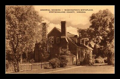 Dr Jim Stamps Us Memorial Mansion Washington Birthplace Virginia Postcard