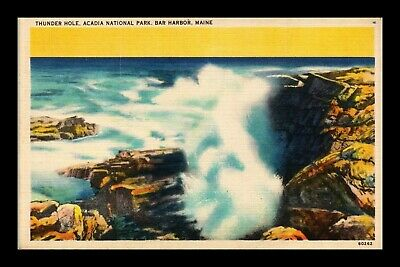 Dr Jim Stamps Us Thunder Hole Ocean Waves Acadia National Park Maine Postcard