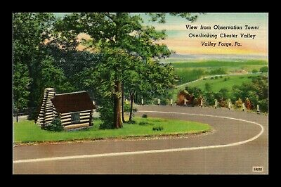 Dr Jim Stamps Us Chester Valley View Valley Forge Pennsylvania Linen Postcard
