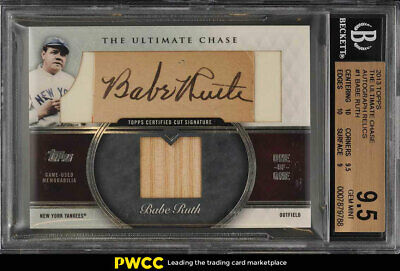 2013 Topps The Ultimate Chase Babe Ruth AUTO BAT PATCH 1/1 #TUC-1 BGS 9.5 (PWCC)
