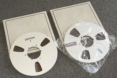 "AMPEX Grandmaster 456 1/4"" NAB Reel X Two (One is DENON Reel)"