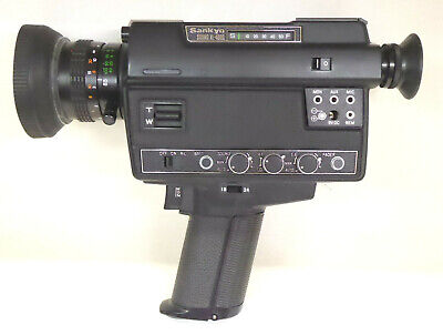 Vintage Sankyo Sound XL-400S 8mm Cine Camera + Microphone - Great Condition