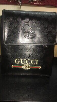 eab253714 Gucci Gg Messenger Crossbody Bag With Logo 100% Authentic~Mint Condition!
