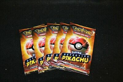 5 Pack Lot Limited Pokemon Detective Pikachu Movie 2 Card Pack -PROMO 2019 NEW