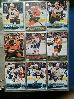 2015-16/2016-17 Upper Deck Hockey Series One Young Guns Rookies 9 Card Lot
