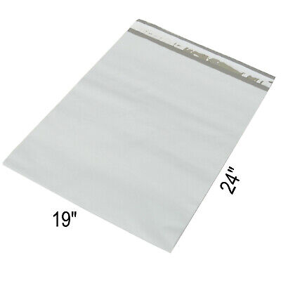 """50 White Poly Mailers Plastic Envelopes Shipping Bags Packing Supplies 19x24"""""""