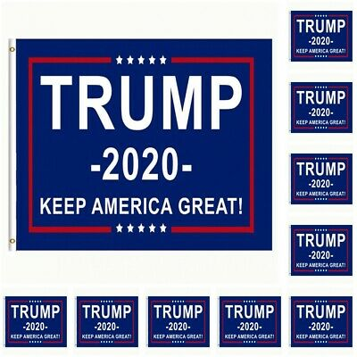 10-Pack Trump 2020 Flag Keep America Great President Donald Trump 3x5 Flag USA