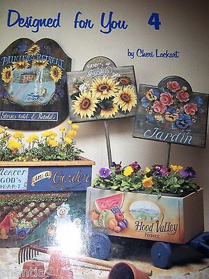 Designed For You 4 By Cheri Lockart 1993 Flowers, Fruits, Cottages Tole Paint