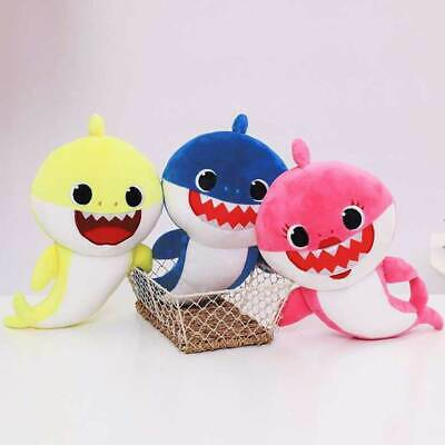 Baby Shark Soft Plush Singing Toys with LED Light Cute Doll for Girl Boy
