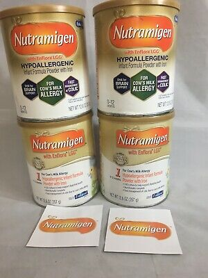 4 cans 12.6 oz Nutramigen Infant Powder Formula FREE Fast PRIORITY Shipping AJHC