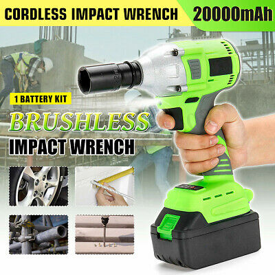 20000mAh Brushless Electric Cordless Impact Wrench LED Powerful Tool High  IT