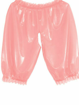 Latex Catsuit Rubber Gummi Loose Short Pants Sweet Casual Trousers Customiz .4mm