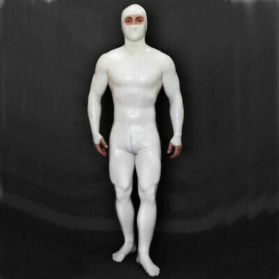 Latex Catsuit Rubber Full Body Unisex Ninja Jumpsuit Cortch Zip Customized 0.4mm