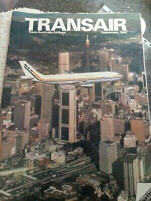 TAA Transair in flight magazine Sept 1982 30 page great peice of flight history