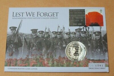 Mercury 2008 Fdc Gibraltar Crown Coin Lest We Forget Poppy Coin  Collection