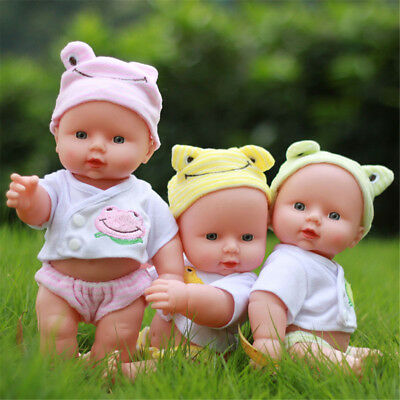 "12"" New Born Reborn Soft Bodied Baby Doll Toy with Back Sounds Crying Talking uk"